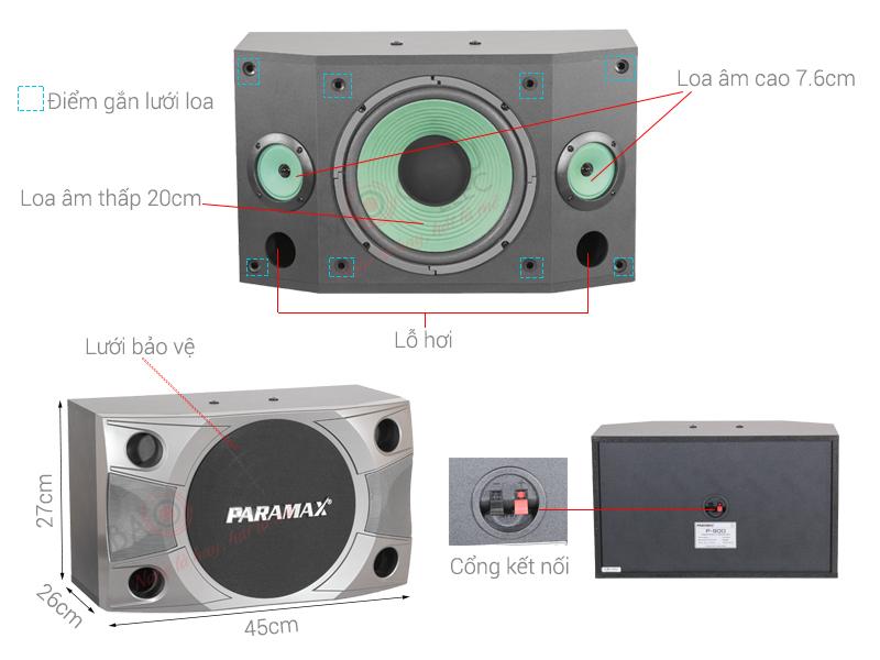 Loa paramax P-800 giá rẻ