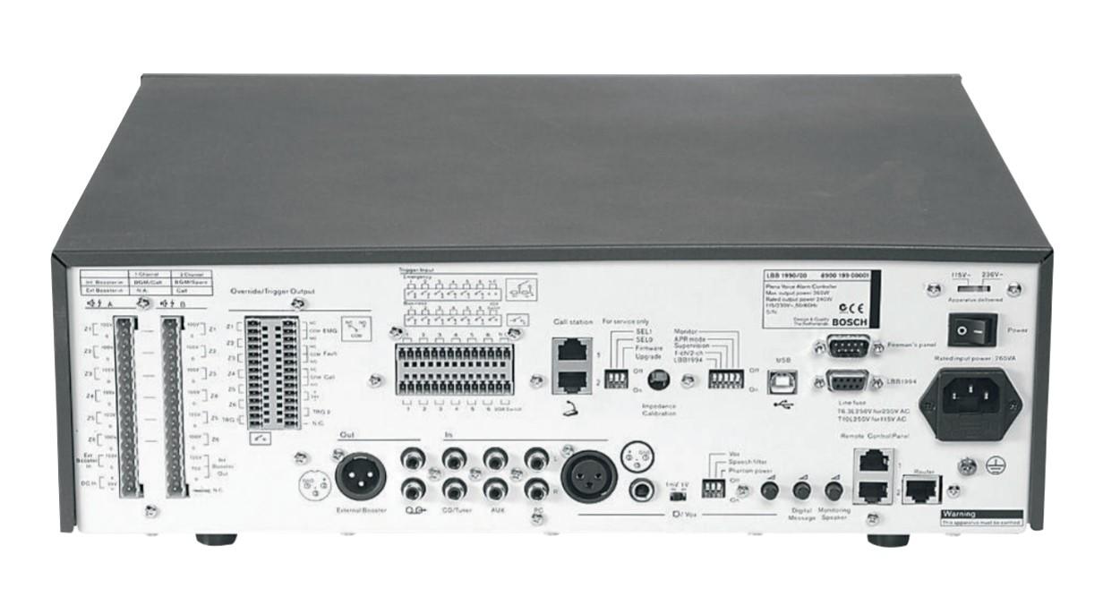 Mặt sau Bộ điều khiển trung tâm Bosch LBB1990 00