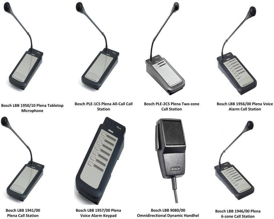 các bàn gọi bosch (micro thông báo chọn vùng)