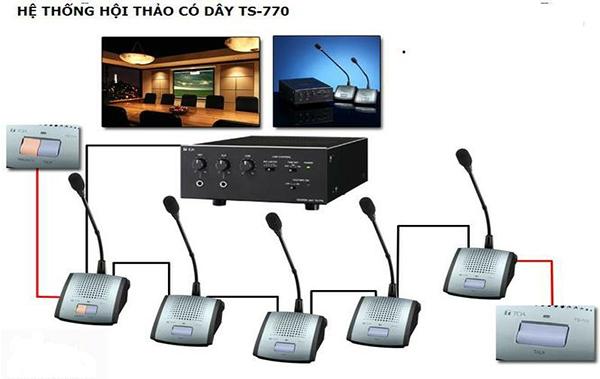 dàn âm thanh hội thảo TOA ts770