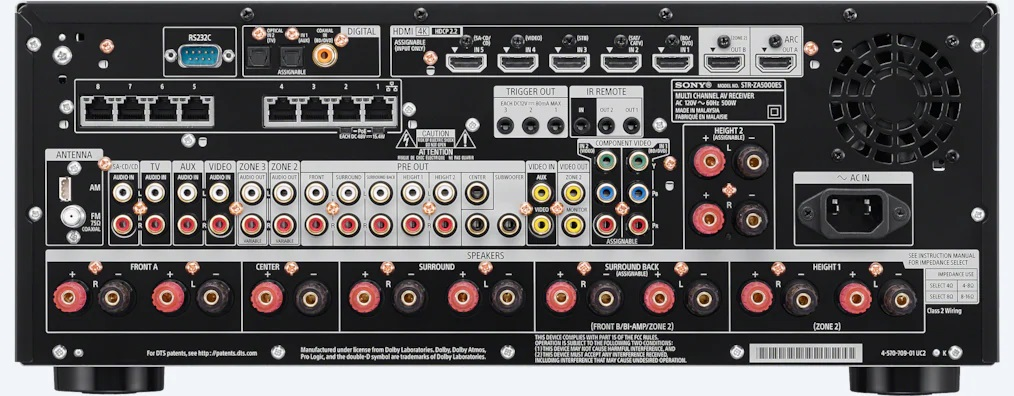 Amply xem phim Sony STR-ZA5000ES mat sau