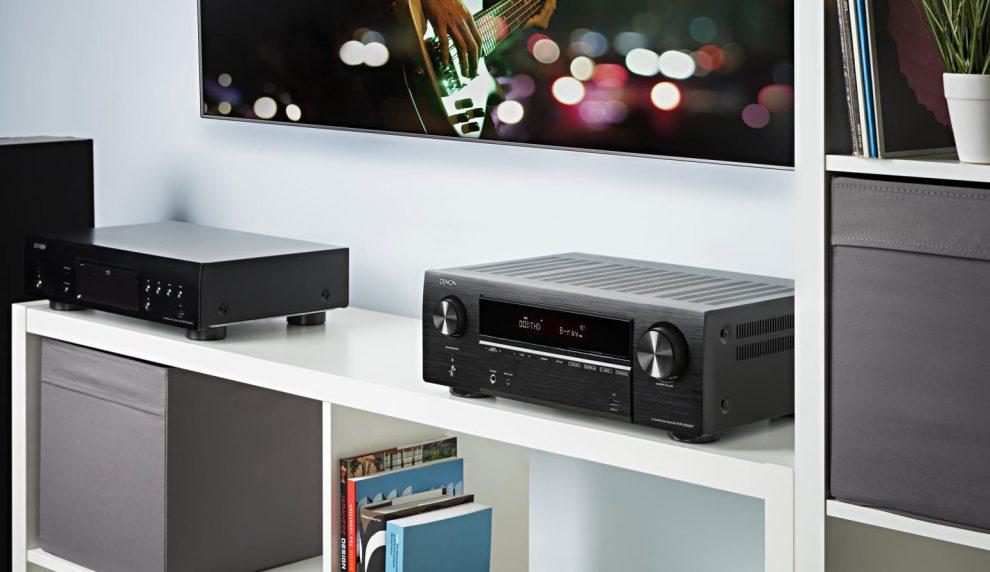 Amply Denon AVR-X550BT đẹp sang trọng hiện đại
