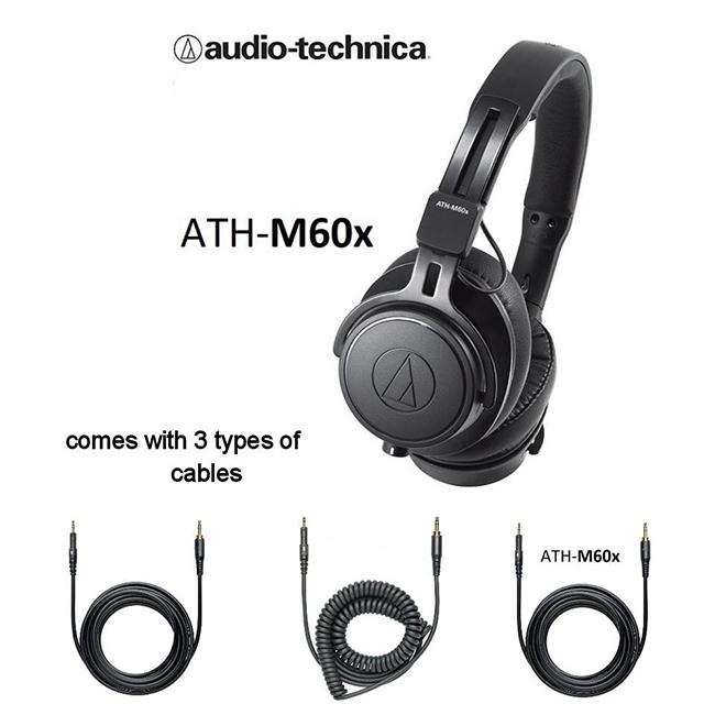 TAI NGHE KIỂM ÂM AUDIO TECHNICA ATH-M60X