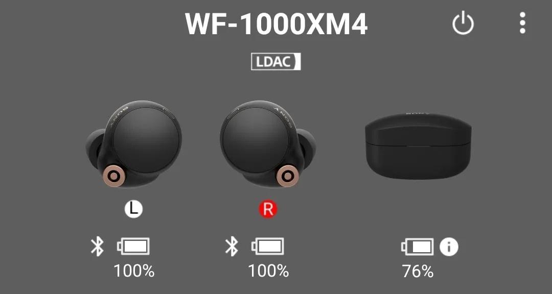 Tai nghe Sony WF-1000XM4 với LDAC