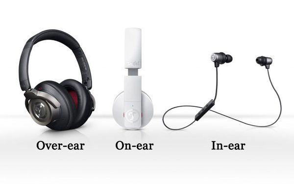 các loại tai nghe on-ear, over-ear và in-ear