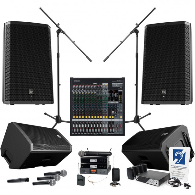 he thong am thanh nha tho Yamaha MGP16X Electro-Voice ZLX Loudspeakers