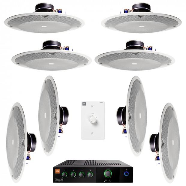 Hệ thống âm thanh thông báo với 8 loa âm trần JBL 8138 và amply JBL CSMA 180