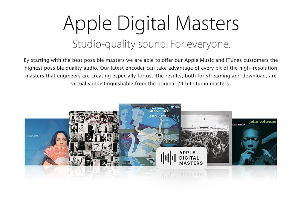 Tiêu Chuẩn Nhạc Cao Cấp Apple Digital Master
