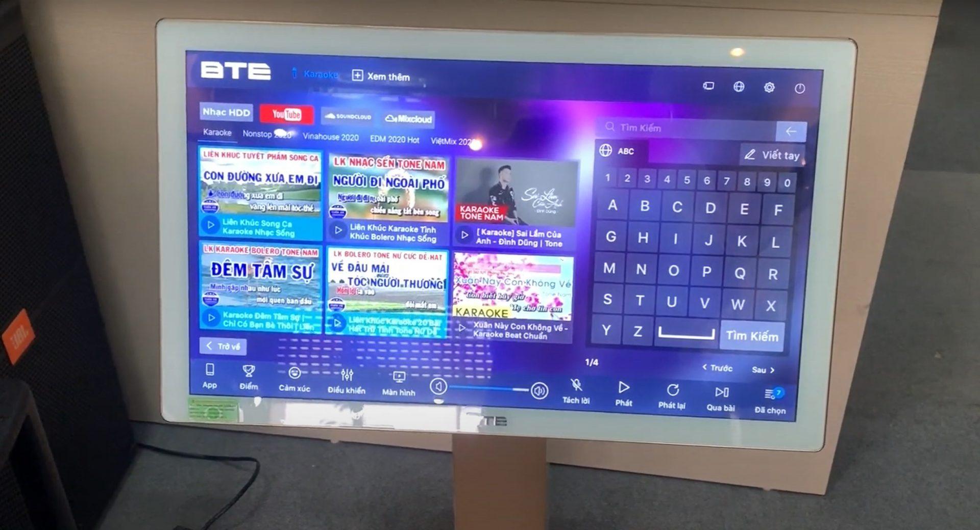 Đầu karaoke liền màn hình BTE E688 3
