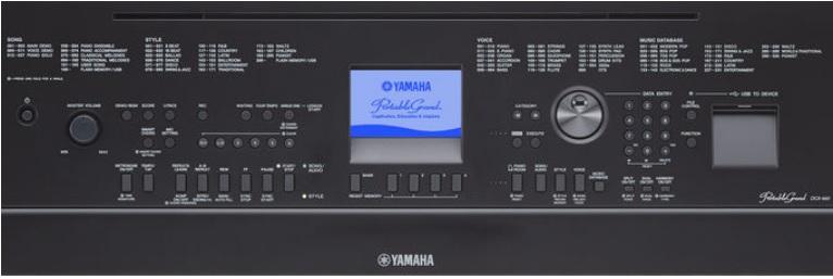 Bàn điều khiển của Yamaha DGX660