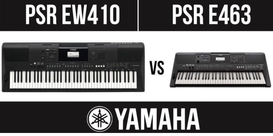 So sánh Yamaha PSR EW410 và Yamaha PSR E463