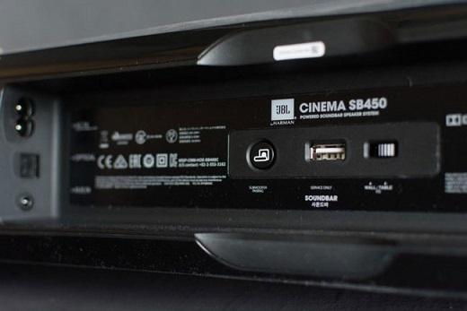 Loa Soundbar JBL SB450 cổng kết nối linh hoạt
