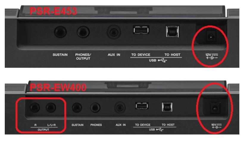 So sánh PSR-EW400 với PSR-E453