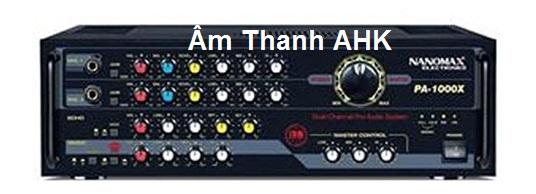 Amply Karaoke Nanomax PA-1000X là một trong những sản phẩm cao cấp đi đầu cho công nghệ Nano