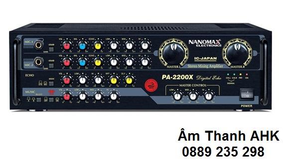 Amply Karaoke Nanomax PA-2200X được thiết kế bởi hãng Nanomax