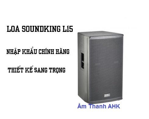 Loa Soundking L15 được thiết kế theo dạng loa toàn dải với 2 đường tiếng