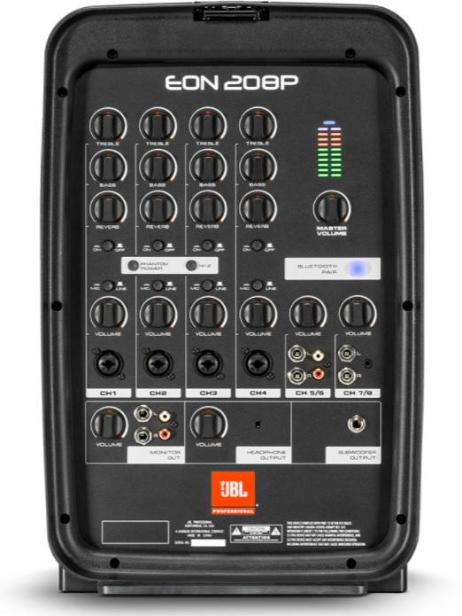 Bảng điều khiển của jBL Eon 208P