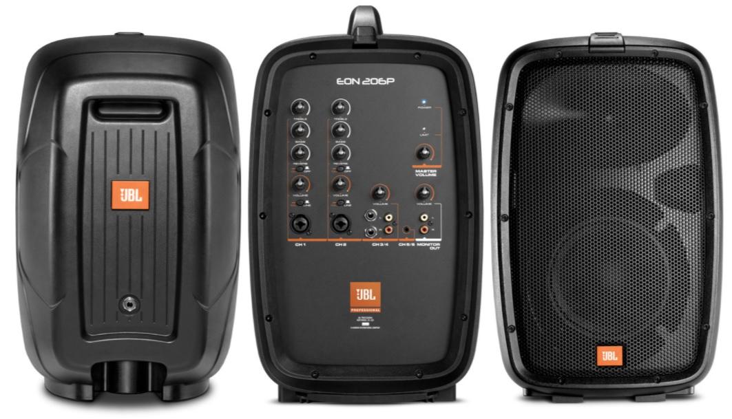 JBL Eon 206P bao gồm mixer
