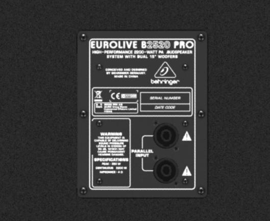 Loa Behringer Eurolive B2520 Pro-EU thụ động không có công suất